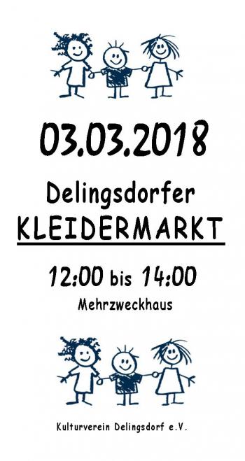 Plakat zur Einladung des Kinderkleidermarktes
